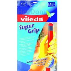 Перчатки Vileda Super Grip, размер М (1 пара)